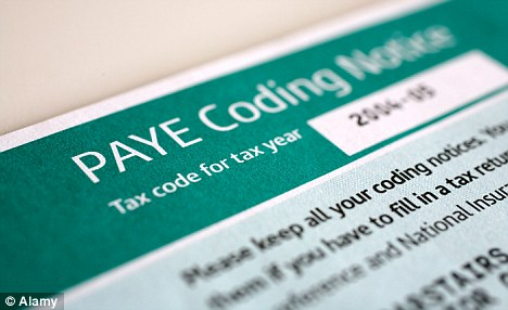 paye tax code notice