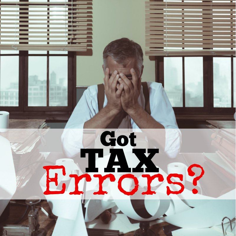 self assessment tax return form errors
