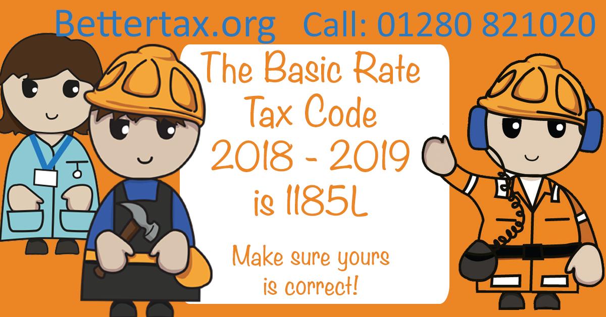 UK tax code 2018 - 2019
