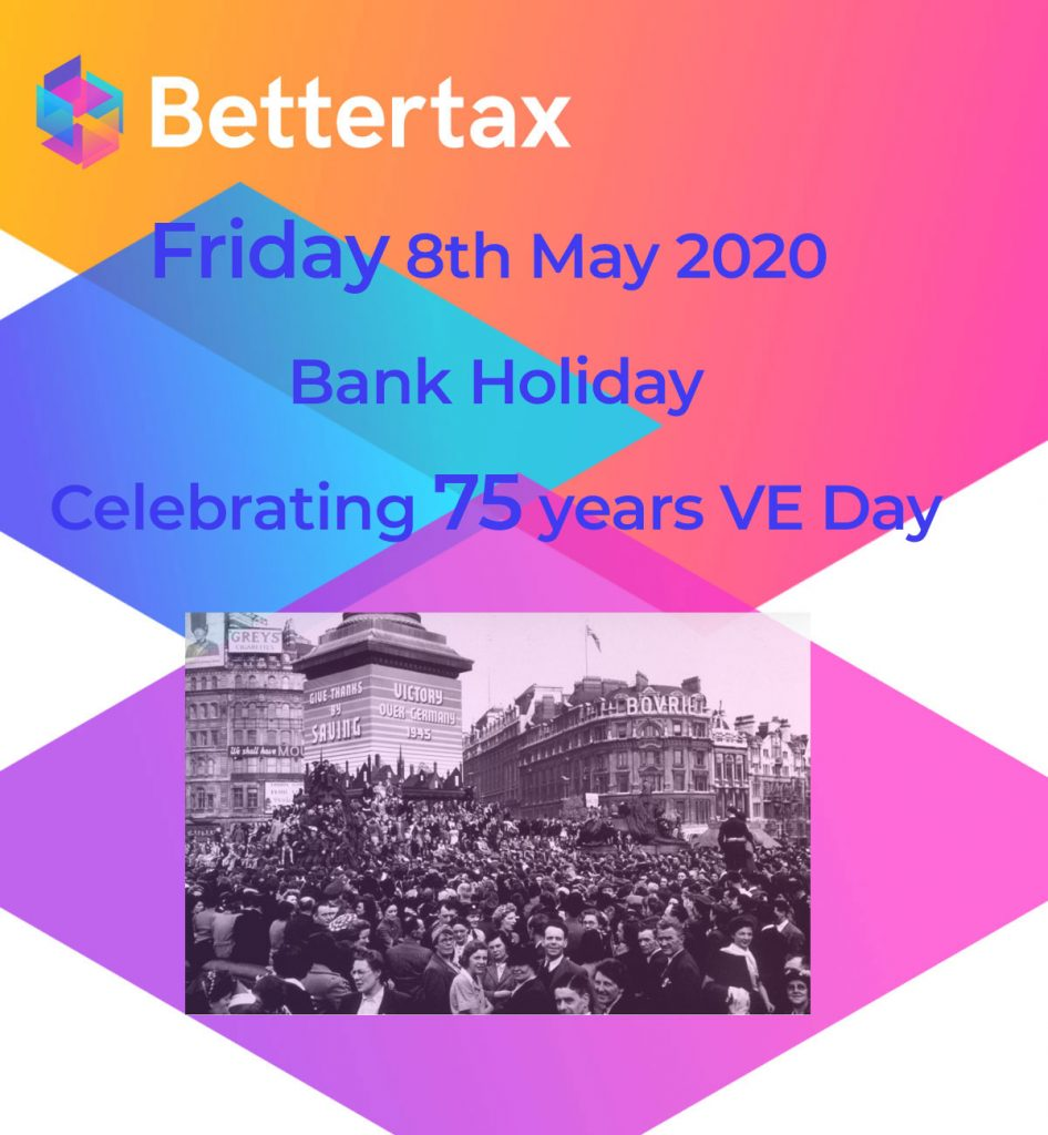Early May bank holiday 2020 8th May - VE Day