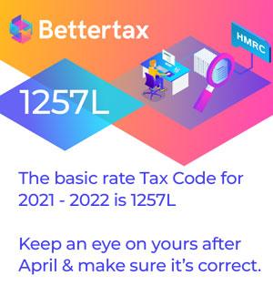 UK tax code 2021-2022 1257L